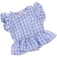 Dovewill  12インチブライスドール適用 素敵 チェック柄 袖なし シャツ 全2色選ぶ - レッド