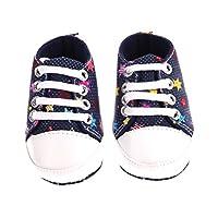 Domybest 春秋幼児用靴 レインボー子供のキャンバスのベビーシューズ新しいアンチスキッドソフトベースの幼児靴の靴底カラーランダム配信