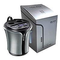 AL HSC108D多機能12-24ボルト100ワット+ 40ワット カー シガーライターデュアルUSB充電 携帯電話タブレットPCバッテリー電圧テスター AL-AA-1856