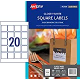 Avery Glossy Square Labels, 45 x 45 mm, 200 Labels (980031 / L7094)