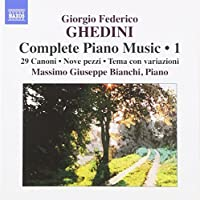 Ghedini: Complete Piano Music Vol.1 by Massimo Giuseppe Bianchi (2010-11-16)