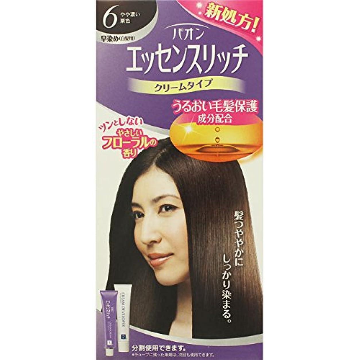 噴出する余分な広告ヘンケルライオンコスメティックス パオン エッセンスリッチ クリームタイプ 6 やや濃い栗色 40g+40g (医薬部外品)