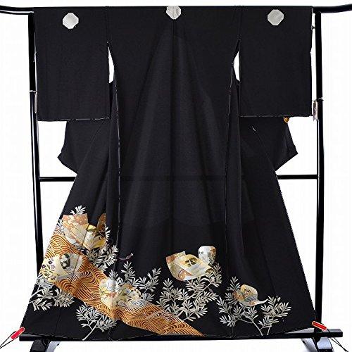 着物ひととき 黒留袖 未仕立て 仮絵羽 金箔 小箱 波紋様 Lサイズ 正絹 結婚式