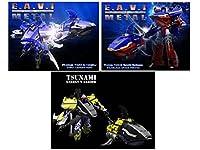 トランスフォーマー KFC - EAVI METAL Phase Two - Set of 3 - Sencho Barbossa Haiku And Tsunami Transformers [並行輸入品]