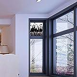 YOLIYANA 静電気でくっつく装飾ウィンドウフィルム ゴシック装飾 キッチン 寝室 リビングルームに最適 ダークオールドの門のイラスト 17''x24'' YO_04_03_Q0404_032741