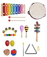 XADP Kids Toys Musical Instruments Xylophone Set- 14 PCS Prime Wooden Musical Toy for Toddlers [並行輸入品]