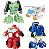 Transformers Rescue Bots - Griffin Rock Rescue Team - 4 Converting Robot Action Figures - Playskool Heroes - Kids Toys - Ages 3+