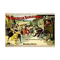 Theatre Vaudeville American Burlesque Framed Wall Art Print 劇場寄席アメリカ人壁