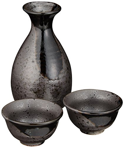 結晶織部 1号 徳利 & 盃 2個 セット 陶器 美濃焼