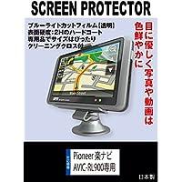 【ブルーライトカット 超透明(透過率:92%以上)】液晶保護フィルム Pioneer 楽ナビ AVIC-RL900/RL901専用(ブルーライトカット・透明)