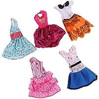 Baoblaze 29cmのバービー人形のため 5点セット 服 ファッションドレス ガウン ワンピース