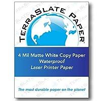 TerraSlate Paper 4ミリ 8.5インチ × 11インチ 耐水性レーザープリント/コピーペーパー 250 Sheet Box