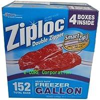 ジップロック Ziploc フリーザー ガロンサイズ 152枚 フリーザーバッグ(26.8cmx27.3cm)