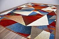 おしゃれ デザイン ラグ じゅうたん 約4畳サイズ カーペット 200x290cm Piankh ピアンキ 200×290/361DW6-X(幾何学柄)