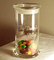 Personalized Candy, Cookie Jar, Cannister by Designs by Etch Art