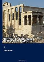 The Poetics of Philosophy: A Reading of Plato