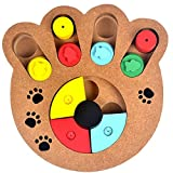 MIRAIS MDF製 ペット用 餌入れ 知育玩具 (手型) 犬 猫 兼用 MI-CT00334-TE
