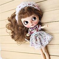 (ドーリア)Dollia ブライス 1/6ドール用 アウトフィット レース フローラルワンピース 髪飾り 2点セット 服 ネオブライス ドール 人形