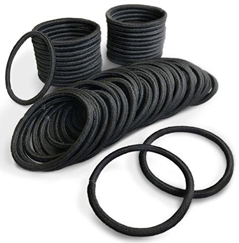 ( PETIT AMORE ) ヘアゴム リングゴム 大容量 50本 セット 結び目・接合なしタイプ 太さ 4mm