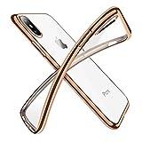 【Humixx】 iPhone X ケース iPhone X バンパー [ メタリック 水洗い可 ] [ ワイヤレス充電 対応 ] [ 超薄型 超軽量 ] [ 気泡防止 擦り傷防止 ] [ おしゃれ 高級感 ] アイフォンX用耐衝撃カバー ( iPhoneX , iPhone10 , ゴールド)