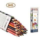 36色 色鉛筆 水溶性色鉛筆 いろえんぴつ 塗り絵用鉛筆セット スケッチ用 アート 水彩色鉛筆 US Sense
