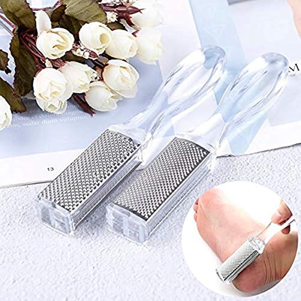 会話型エスカレートロデオステンレスシャベルナイフ洗浄グラインダーカルス角質除去ペディキュアツール角質除去フットケア(2箱)