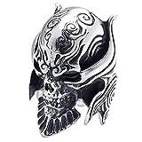 KONOV ジュエリー ファッション アクセサリー メンズ リング 指輪, バイカーズ ゴシック トライバル 牙狼 悪魔 髑髏 頭蓋骨 ドクロ スカル, ステンレス, カラー:ブラック; シルバー(銀);[ギフトバッグを提供] - [21号]