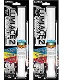 OMEGA 【2本セット】 LED ルミカ ルミエース2 オメガ 24段階カラーチェンジペンライト 【キラキラタイプ】 コンサートグッズ 4LED搭載