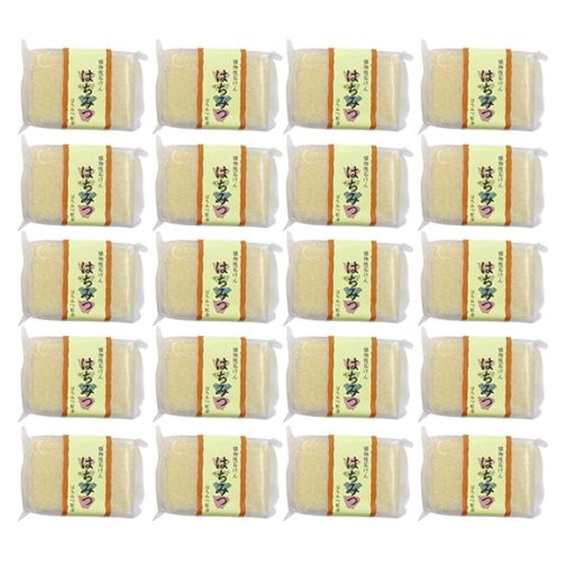 シャンプーネックレスリーズ植物性ソープ 自然石けん はちみつ 80g×20個セット