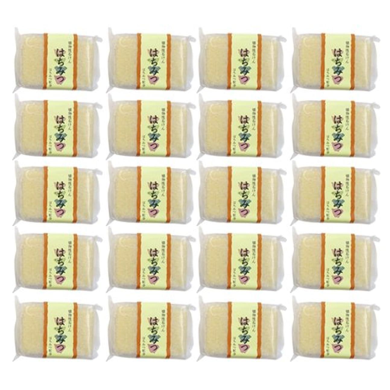 比較的毎月守る植物性ソープ 自然石けん はちみつ 80g×20個セット