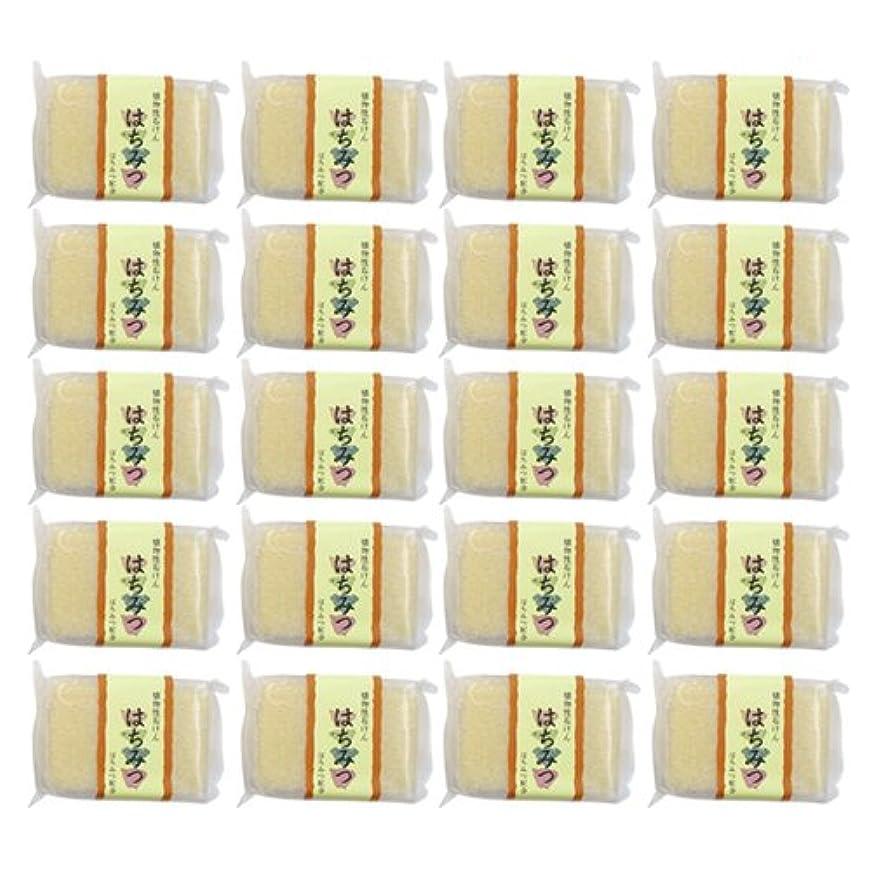 聖歌ギャラントリー論争植物性ソープ 自然石けん はちみつ 80g×20個セット