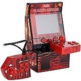 レトロミニポータブルアーケードマシンクラシックレトロハンドヘルドビデオゲームコンソール内蔵183アーケードゲーム - レッド