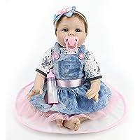 Rebornベビー人形ソフトSiliconeビニール22インチ55 cm Lovely Lifelikeかわいい赤ちゃん男の子女の子おもちゃ美しい服人形