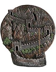 PHILOGOD 香炉 ストーンパウダー万里の長城逆流香炉 香皿 クラフト飾りお香 ホルダー/香立て