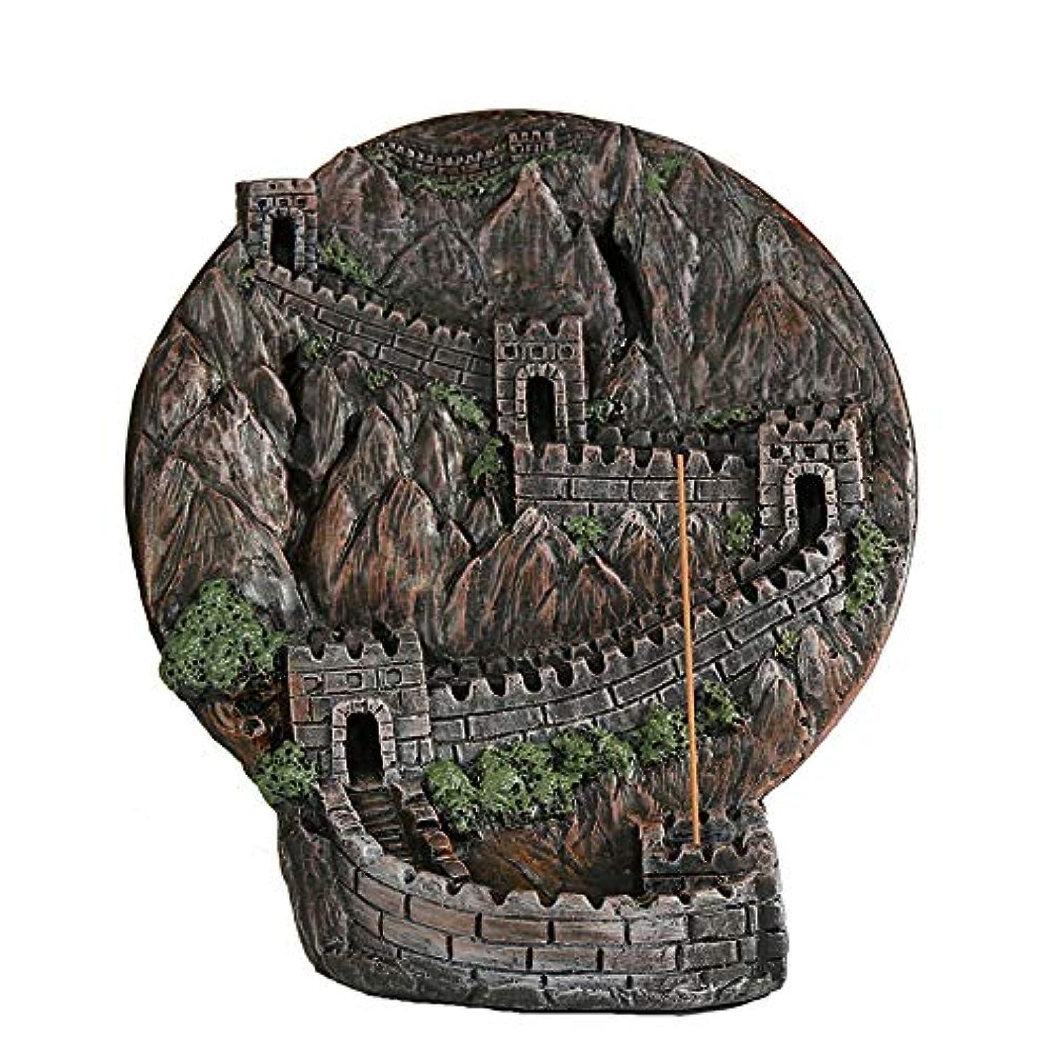 夜間比類のない彫刻PHILOGOD 香炉 ストーンパウダー万里の長城逆流香炉 香皿 クラフト飾りお香 ホルダー/香立て