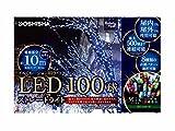 クリスマス LEDストレートライト100球 ミックス球 グリーンコード