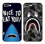 ナイキ ジャージ 【JADE Japan】 iPhone6/6s/6Plus/6s Plus/ iPhone7/7 Plus サメ モンスター 迷彩 シリコン TPU 素材 ストラップ付 iPhoneケース (iPhone 7, モンスター)