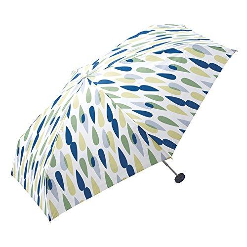 wpc-127-126-166 50cm レイン-グリーン(554-127) (ワールドパーティー) W.P.C ZIPPER CASE 折りたたみ 傘 晴雨兼用 雨傘 日傘 総柄 軽量 コンパクト wpc-127-126-166