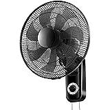 壁掛け扇風機、7ファンブレード|マウサー3速設定|スイング、居間、食堂などに最適(黒)