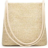 Andear Women Girls Straw Woven Handbag Summer Beach Holiday Tote Purse Bag Travel Shoulder Bag