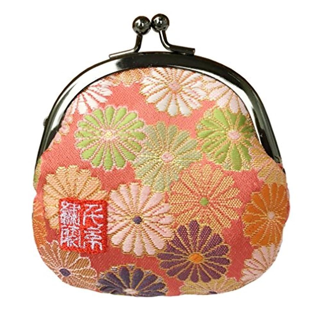 冷笑する実用的セブン千糸繍院 西陣織 金襴 がま口 2.5寸丸型財布/小銭入れ(裏地付き)