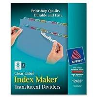 ave12433–Averyインデックスメーカー簡単適用クリアラベルDivider