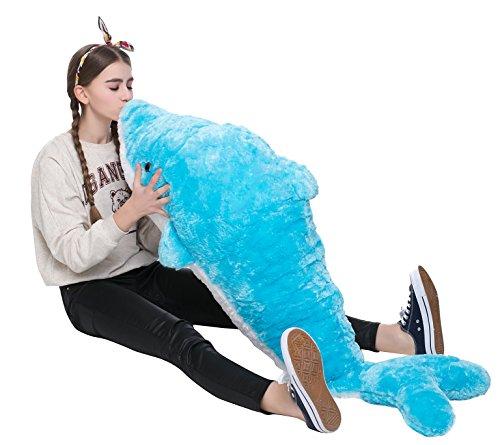 MorisMos イルカぬいぐるみ ぬいぐるみ特大 海豚 可愛い抱き枕 イル...