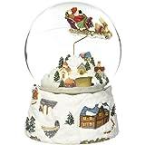 Musicbox Kingdom 47089 120 mmクリスマスTrain Snow Globe Turns to The Melody「ジングルベル」部屋装飾