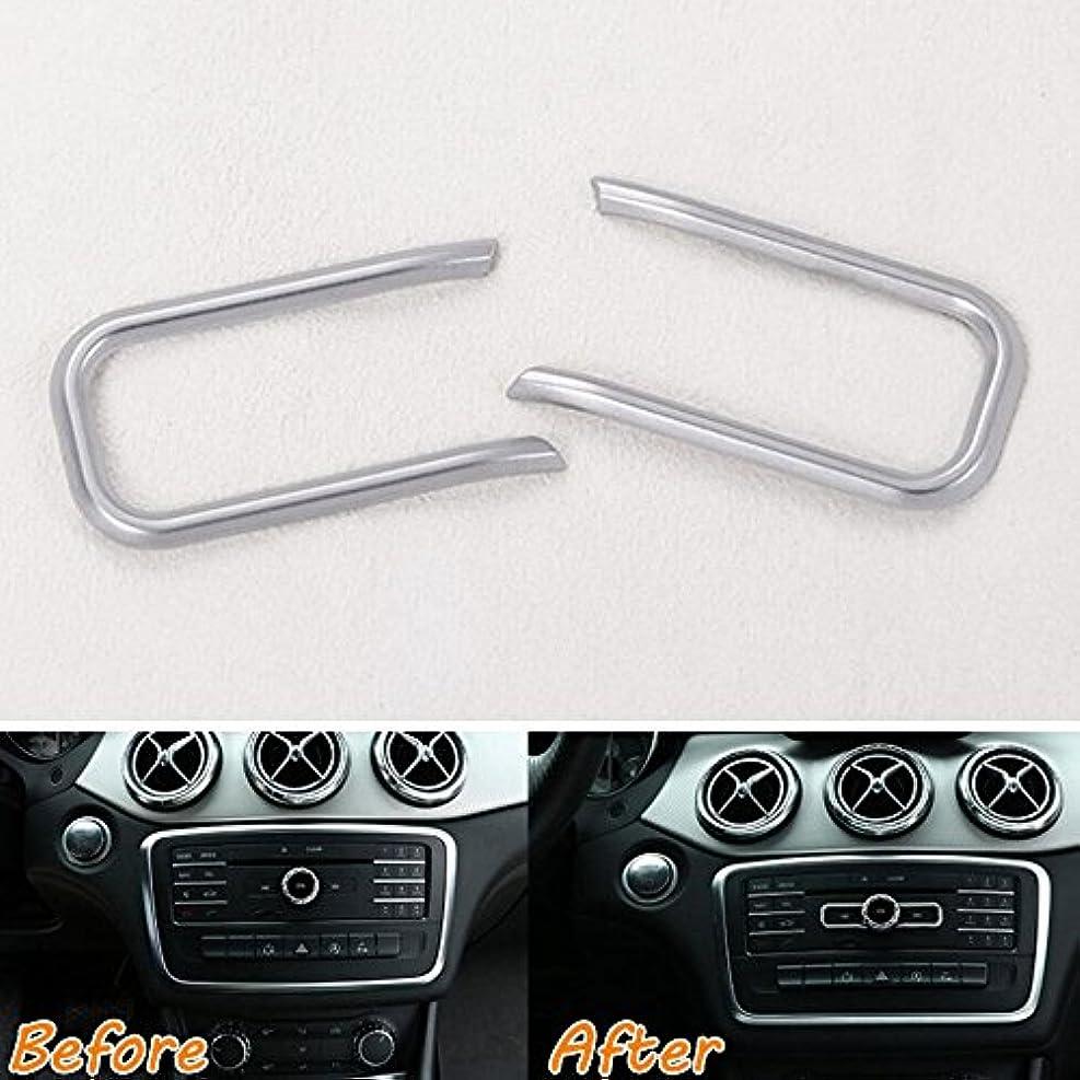軽蔑クラシックポンドJicorzo - Dashboard Console CD Volume Switch Cover Trim Decor Frame Sticker ABS Car Styling For Mercedes Benz...