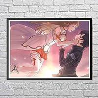 アート壁画-完璧な漫画のキャラクター(450)美しいアート絵画とフォトフレーム、輸入された印刷技術、装飾的な家庭生活-サイズ:14x11インチ