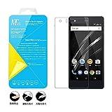 Vaio Phone A 強化ガラス保護フィルム 3D カーブ フル前面カバー 気泡無 指紋つきにくい Blue