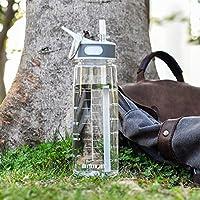 Water Bottle Sports Water Bottle, Water Bottle with Straw,Plastic Water Bottle,Kids Water Bottle,BPA Free Dishwasher...