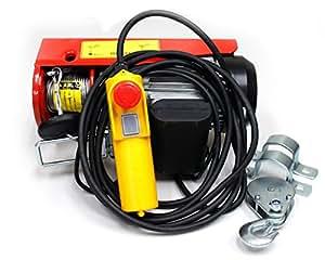 toolsisland 家庭用100V 電動ウインチ(ホイスト) 400kg (リモコンコード長さ:5m) TKK015