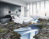 Wapel 壁画の 2165 d 壁紙カスタム サイズ 渓谷の滝 3 D 床塗装厚い防水性と耐摩耗性の Pvc 自己接着 3 D 壁紙 160x120cm